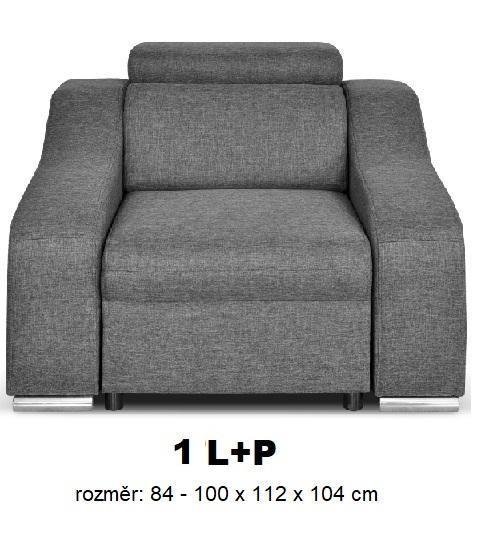 """Moduly DAVIDOFF k sestavení sedací soupravy - látky cenové skupiny III -křeslo """"1(L+P)"""""""