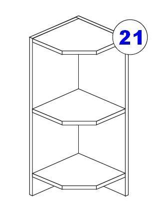 Kuchyňská linka SCASI poličky spodní rohové DRZ 30 C