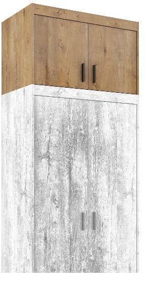 Nástavec na skříň ELENA 2D, dub lefkas  - 1