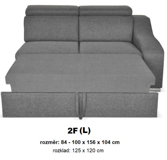 """Moduly DAVIDOFF k sestavení sedací soupravy - látky cenové skupiny III -modul """"2F(L)"""""""