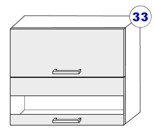 Kuchyňská linka SCASI skříňka vrchní š.80 G OW