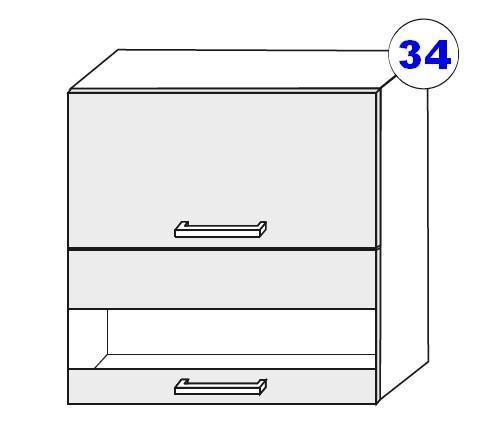 Kuchyňská linka SCASI skříňka vrchní š.60 G OW
