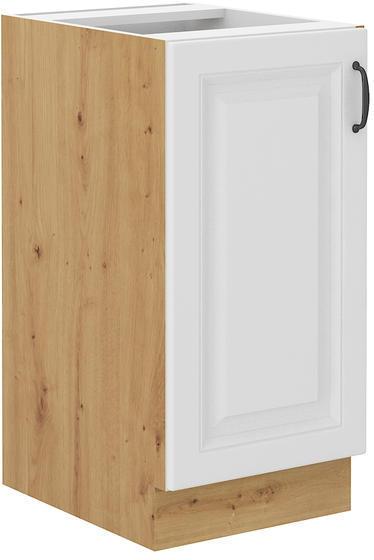 Spodní  skříňka 40 1F STILO bílá/dub artisan