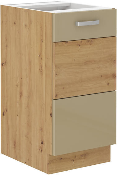 Spodní skříňka 40 1F ARTISAN CAPPUCCINO lesk / dub artisan  - 1