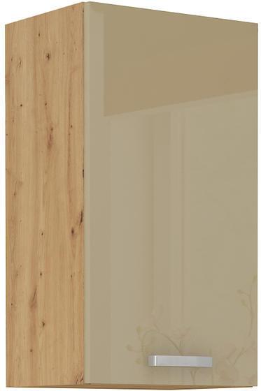 Horní skříňka 40 G 1F ARTISAN CAPPUCCINO lesk / dub artisan