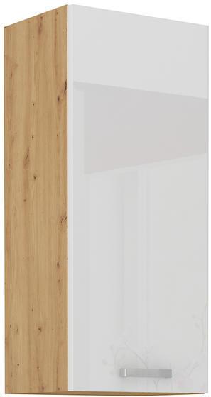Horní skříňka 30 G-90 ARTISAN bílý lesk / dub artisan
