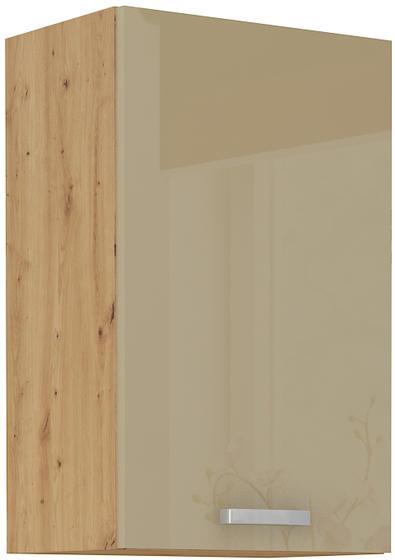 Horní skříňka 45 G 1F ARTISAN CAPPUCCINO lesk / dub artisan