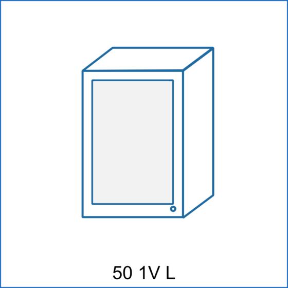 Horní skříňka 50 vitrína 1D REMI  - 1