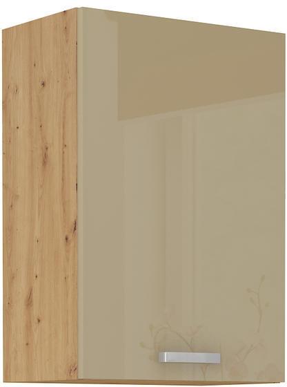 Horní skříňka 50 1F ARTISAN CAPPUCCINO lesk / dub artisan