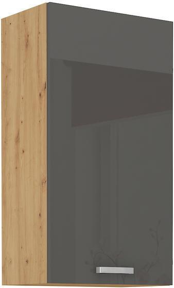 Horní skříňka 50 G ARTISAN ŠEDÝ lesk / dub artisan
