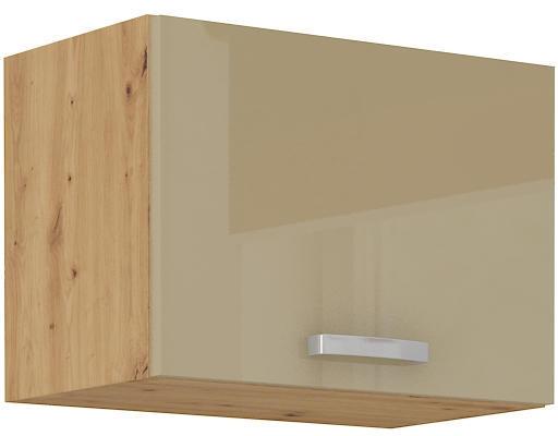 Horní skříňka 50 GU 1F ARTISAN CAPPUCCINO lesk / dub artisan  - 1