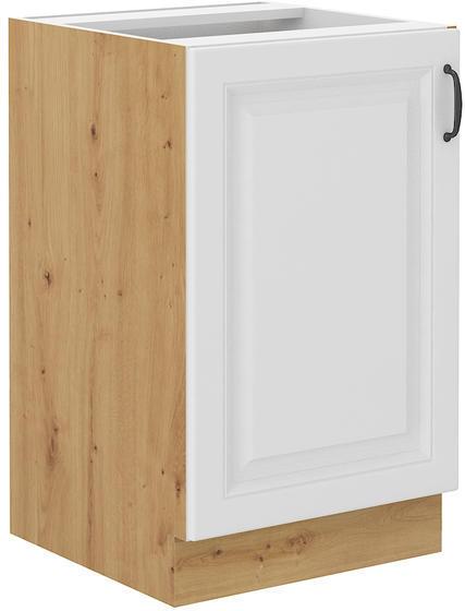 Spodní skříňka pod dřez 50 ZL STILO bílá/dub artisan