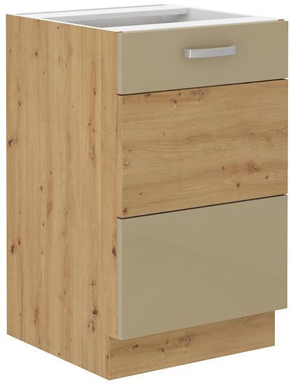 Spodní skříňka pod dřez 50 1F ARTISAN CAPPUCCINO lesk/ dub artisan