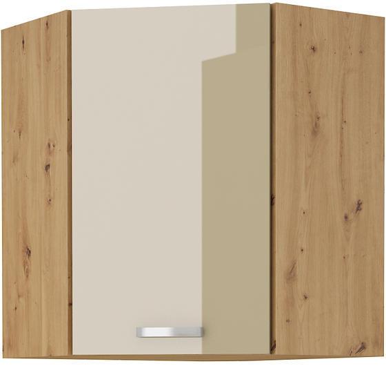 Horní skříňka rohová 58x58 ARTISAN CAPPUCCINO lesk / dub artisan  - 1