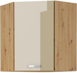 Horní skříňka rohová 58x58 ARTISAN CAPPUCCINO lesk / dub artisan - 1/2