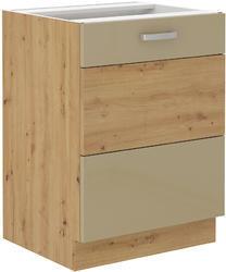Spodní skříňka 60 1F ARTISAN CAPPUCCINO lesk/ dub artisan - 1/2