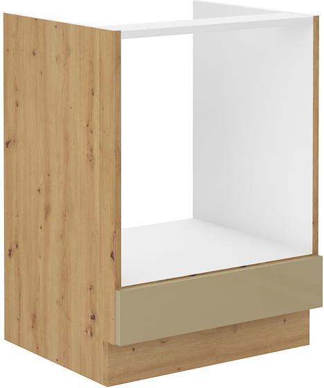 Skříňka na sporák 60 ARTISAN CAPPUCCINO lesk / dub artisan  - 1