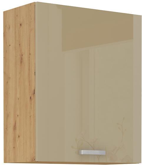 Horní skříňka 60 1F ARTISAN CAPPUCCINO lesk / dub artisan