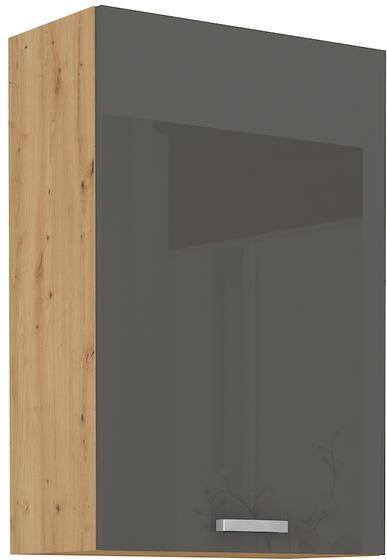Horní skříňka 60 G ARTISAN ŠEDÝ lesk / dub artisan