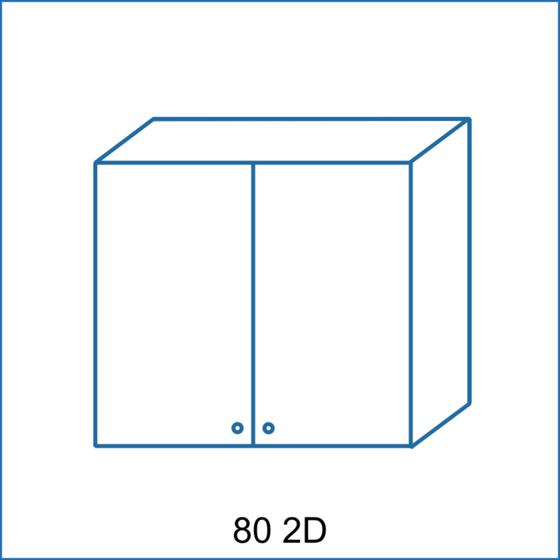 Horní skříňka 80 2D REMI