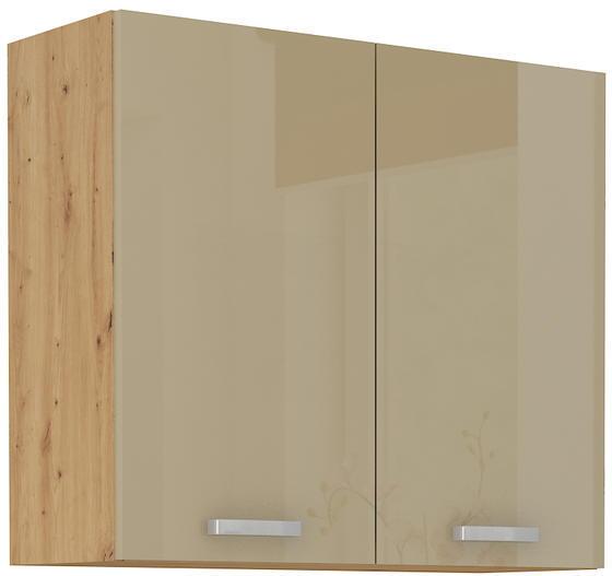 Horní skříňka 80 2F G ARTISAN CAPPUCCINO lesk / dub artisan