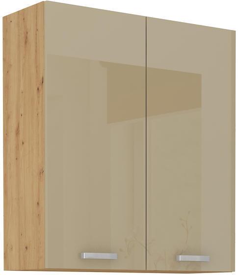 Horní skříňka 80 G ARTISAN CAPPUCCINO lesk / dub artisan
