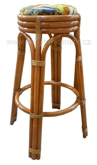 Ratanová barová stolička RN8011  - 1