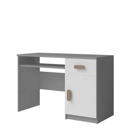 Studentský pokoj Ariela psací stůl 110 šedý bílý  - 1