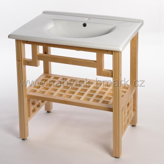 Koupelnová sestava EGLO regál s umyvadlem (80x70x45 cm)