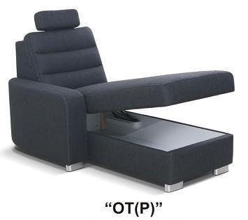"""Moduly BENTLEY k sestavení sedací soupravy - látky cenové skupiny IV -modul """"OT(P)"""""""