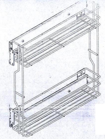 Kovový koš do skříňky 30 cm  - 1