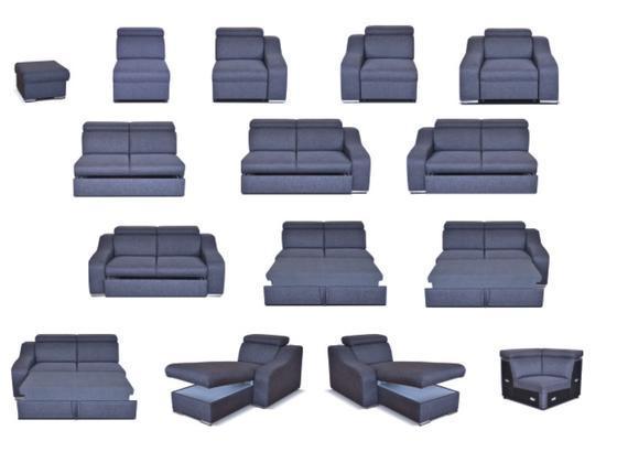 Moduly DAVIDOFF k sestavení sedací soupravy - látky cenové skupiny III