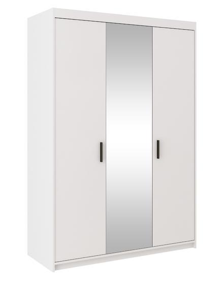 Skříň ELENA 3D se zrcadlem, bílá  - 1