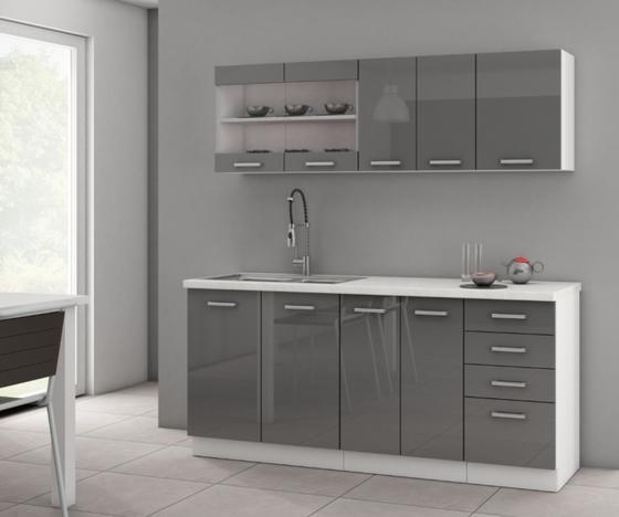Kuchyňská sestava SOŇA I, šedý lesk