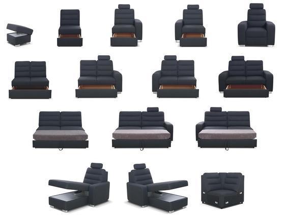 Moduly BENTLEY k sestavení sedací soupravy - látky cenové skupiny IV
