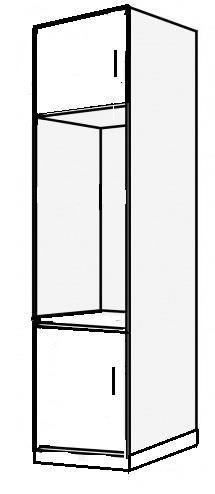 Vysoká skříň na troubu  a mikrovlnou troubu 60 2D REMI