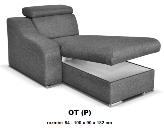 """Moduly DAVIDOFF k sestavení sedací soupravy - látky cenové skupiny III -modul """"OT(P)"""""""