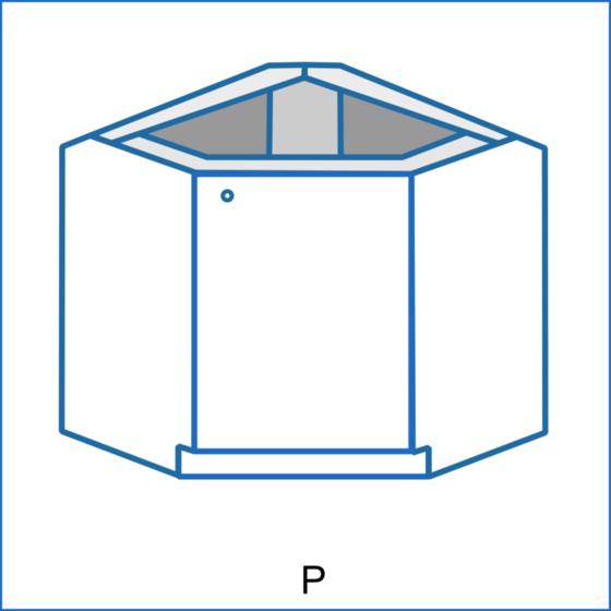 Dolní rohová skříňka zkosená REMI  - 1