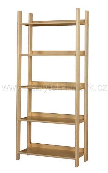 Regál borovicový jednoduchý - š.45 cm - 1