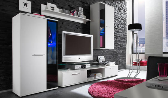Obývací stěna SALSA, bílá  - 1