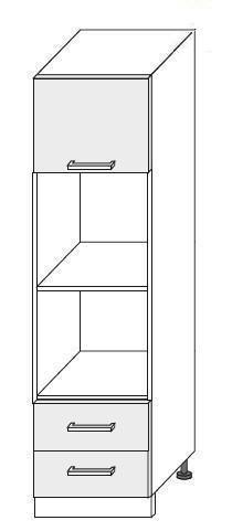 Vestavěná skříň pro troubu a mikrovlnku 1D2S 60 COUNTRY