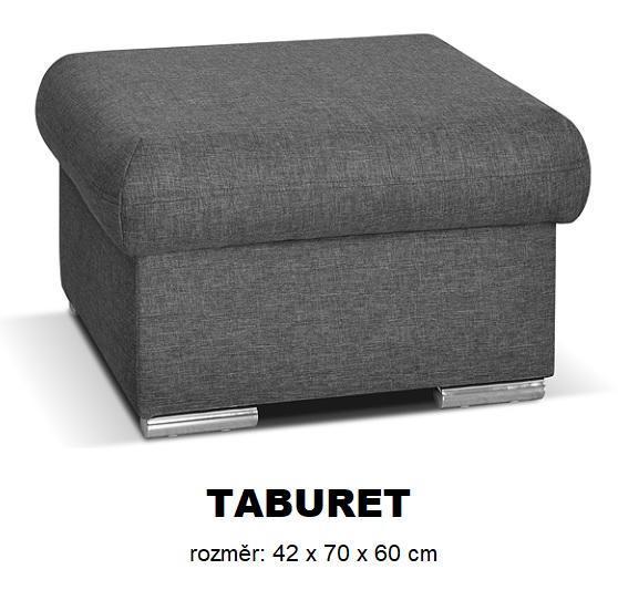 Moduly DAVIDOFF k sestavení sedací soupravy - látky cenové skupiny III -Taburet