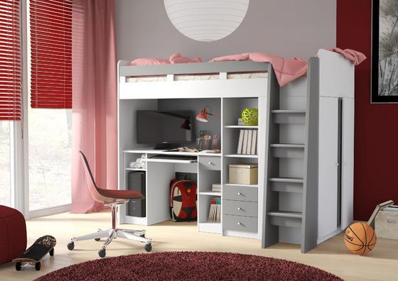Patrová postel s psacím stolem Unit  - 1