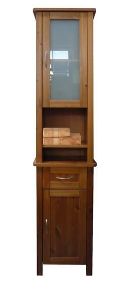 Skříňka koupelnová vysoká borovicová
