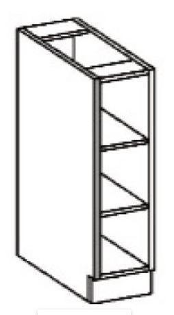 Spodní regál 15 VIGO bordó  - 2