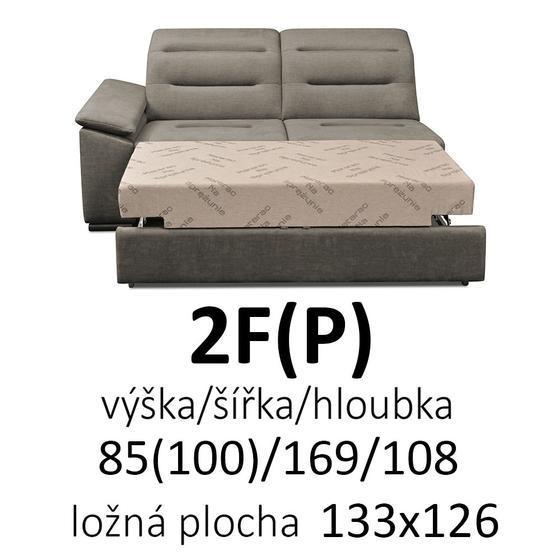 Sedací souprava EXCELENT 2F(P)-R-1(L)  - 2