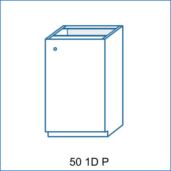 Dolní skříňka 50 1D REMI  - 2