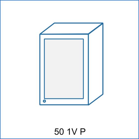 Horní skříňka 50 vitrína 1D REMI  - 2