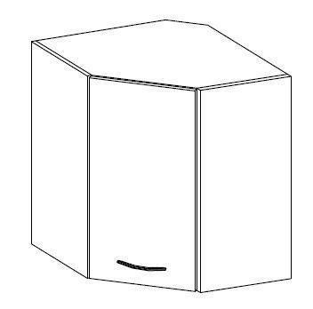 Horní skříňka rohová 58x58 ARTISAN CAPPUCCINO lesk / dub artisan  - 2