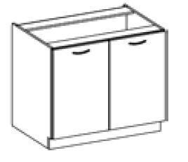 Spodní skříňka 80 2F ARTISAN CAPPUCCINO lesk / dub artisan  - 2